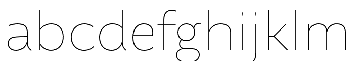 Altivo Light Italic Font LOWERCASE