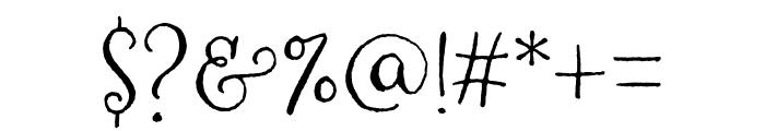 Amoretta Dark Regular Font OTHER CHARS