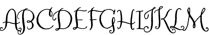 Amoretta Dark Regular Font UPPERCASE