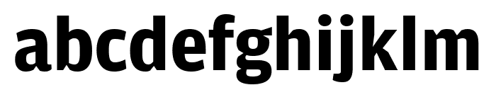 AmplitudeWide Bold Font LOWERCASE