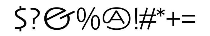 Anisette Std Petite Light Font OTHER CHARS