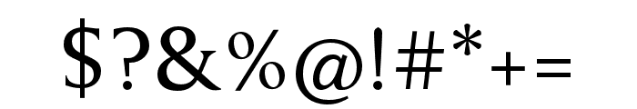 Anziano Pro Regular Font OTHER CHARS