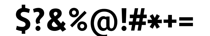 Apertura Bold Condensed Font OTHER CHARS