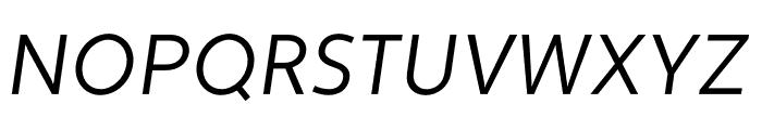 Apertura Condensed Obliq Font UPPERCASE