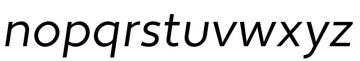 Apertura Condensed Obliq Font LOWERCASE