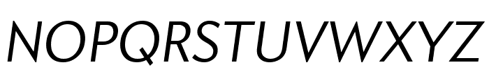 Apres Condensed Light Italic Font UPPERCASE