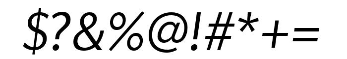 Apres Narrow Light Italic Font OTHER CHARS