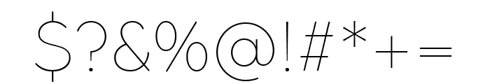 Arboria Thin Font OTHER CHARS
