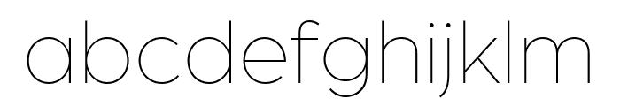 Arboria Thin Font LOWERCASE