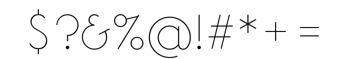 Arbotek Light Font OTHER CHARS