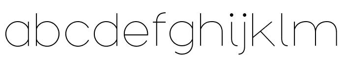 Arbotek Light Font LOWERCASE