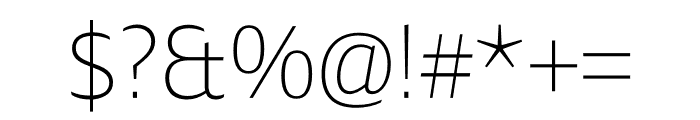 Ardoise Std Compact Thin Font OTHER CHARS