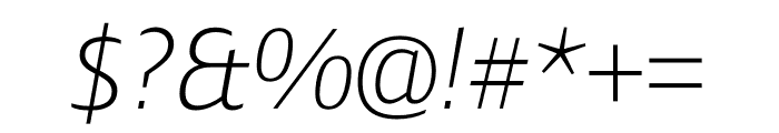 Ardoise Std ExtraLight Italic Font OTHER CHARS