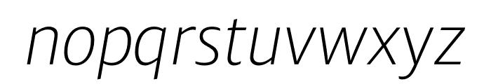 Ardoise Std ExtraLight Italic Font LOWERCASE
