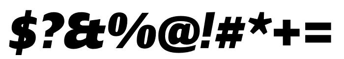 Ardoise Std Heavy Italic Font OTHER CHARS