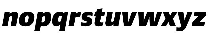 Ardoise Std Heavy Italic Font LOWERCASE
