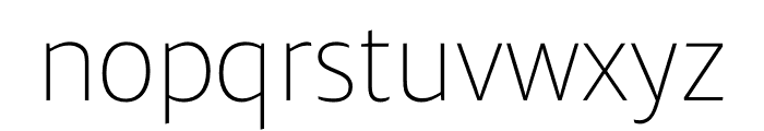 Ardoise Std Narrow Thin Font LOWERCASE