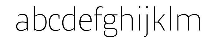 Ardoise Std Thin Font LOWERCASE