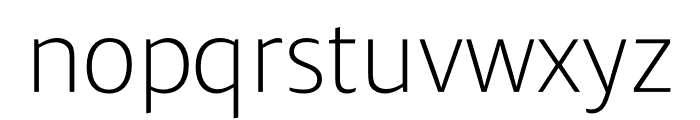 Ardoise Std Tight ExtraLight Font LOWERCASE