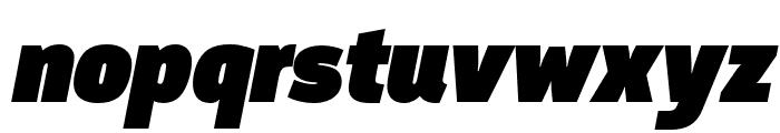 Argumentum Ultra Italic Font LOWERCASE