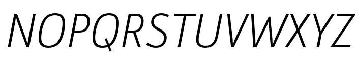 Argumentum Ultra Light Italic Font UPPERCASE