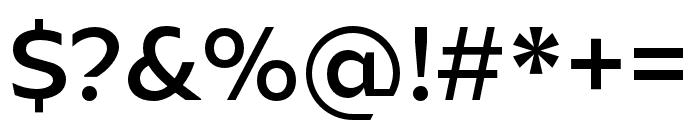 Ariana Pro Medium Font OTHER CHARS