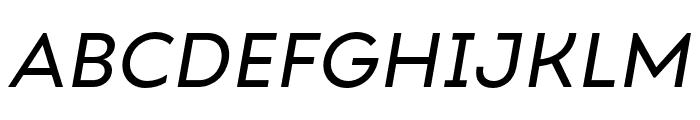 Ariana Pro Regular italic Font UPPERCASE