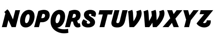 Arlette Black Italic Font UPPERCASE