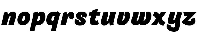 Arlette Black Italic Font LOWERCASE