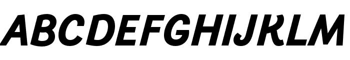 Arlette Bold Italic Font UPPERCASE