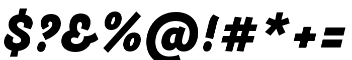 Arlette Heavy Italic Font OTHER CHARS