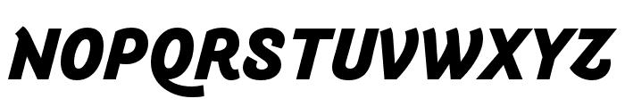 Arlette Heavy Italic Font UPPERCASE