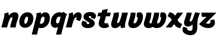 Arlette Heavy Italic Font LOWERCASE