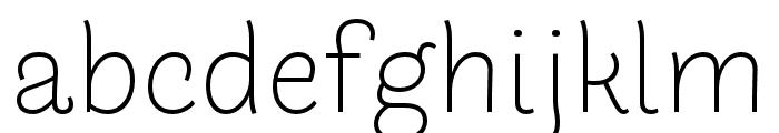 Arlette Light Font LOWERCASE
