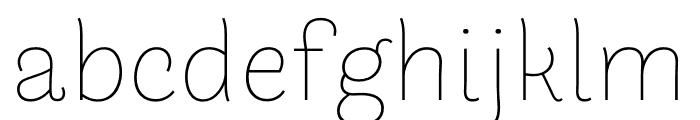 Arlette THA Thin Font LOWERCASE