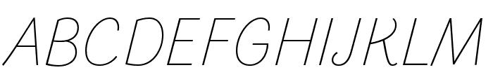 Arlette Thin Italic Font UPPERCASE
