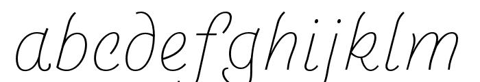 Arlette Thin Italic Font LOWERCASE