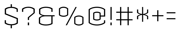 Armada LightCondensed Font OTHER CHARS