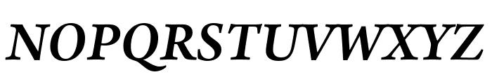 Arno Pro Semibold Italic Display Font UPPERCASE