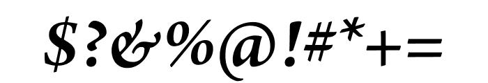 Arno Pro Semibold Italic Subhead Font OTHER CHARS