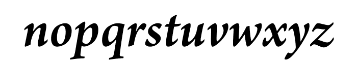 Arno Pro Semibold Italic Subhead Font LOWERCASE