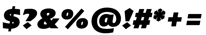 ArponaSans Black Italic Font OTHER CHARS