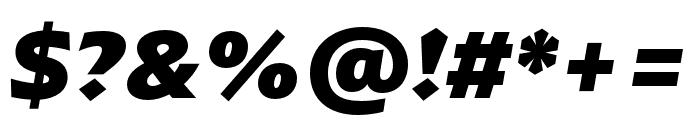 ArponaSans ExtraBold Italic Font OTHER CHARS