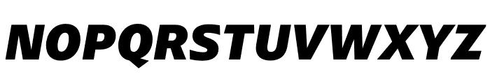 ArponaSans ExtraBold Italic Font UPPERCASE