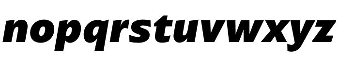 ArponaSans ExtraBold Italic Font LOWERCASE