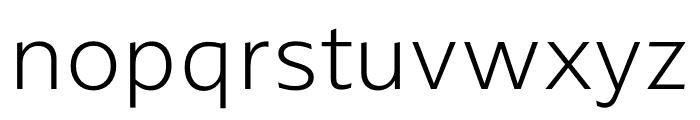 ArponaSans ExtraLight Font LOWERCASE