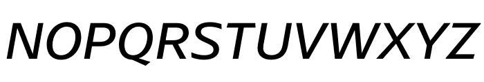 ArponaSans Regular Italic Font UPPERCASE