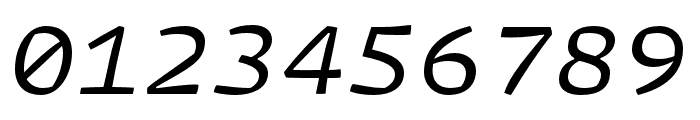 Array Mono Regular Italic Font OTHER CHARS