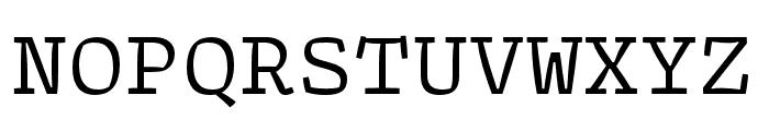 Array Mono Regular Font UPPERCASE