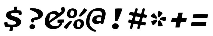 Array Proportional Bold Italic Font OTHER CHARS